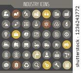 big industry icon set  trendy... | Shutterstock .eps vector #1236243772