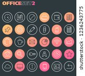 inline office icons collection  ... | Shutterstock .eps vector #1236243775