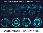 mega pack set target. hud... | Shutterstock .eps vector #1236246208