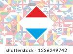flag background of european... | Shutterstock .eps vector #1236249742