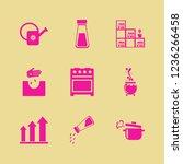 pot icon. pot vector icons set... | Shutterstock .eps vector #1236266458