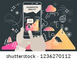 augmented reality city tourism... | Shutterstock .eps vector #1236270112