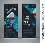 abstract blurb font. black roll ... | Shutterstock .eps vector #1236270475