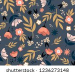 floral seamless pattern with... | Shutterstock .eps vector #1236273148