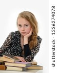 female student with books | Shutterstock . vector #1236274078