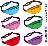 vector image fanny pack | Shutterstock .eps vector #1236275455