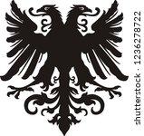 heraldic eagle silhouette | Shutterstock . vector #1236278722