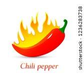 red burning hot chili pepper....   Shutterstock .eps vector #1236283738