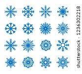 blue snowflake winter set... | Shutterstock .eps vector #1236302218