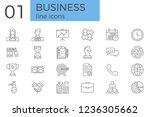 business related vector line... | Shutterstock .eps vector #1236305662