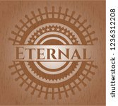 eternal retro style wood emblem | Shutterstock .eps vector #1236312208