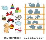 logic tasks for preschool...   Shutterstock .eps vector #1236317392