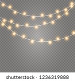 christmas lights isolated... | Shutterstock .eps vector #1236319888