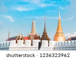 grand palace and wat phra keaw... | Shutterstock . vector #1236323962