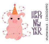 postcard of happy new year with ... | Shutterstock .eps vector #1236326992