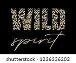 "decorative ""wild spirit"" text... | Shutterstock .eps vector #1236336202"