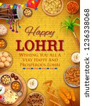 illustration of happy lohri... | Shutterstock .eps vector #1236338068