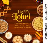 illustration of happy lohri... | Shutterstock .eps vector #1236338095