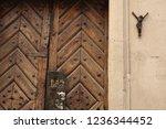 crisis of faith concept. old... | Shutterstock . vector #1236344452