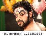 yakshagana artist showing anger ... | Shutterstock . vector #1236363985