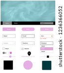 light pink vector web ui kit...