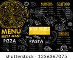 restaurant cafe menu  template... | Shutterstock . vector #1236367075