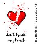 vector 8 bit pixel art broken... | Shutterstock .eps vector #1236367345