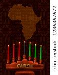 kwanzaa. concept of an african...   Shutterstock .eps vector #1236367672