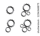 set of silver gears icons... | Shutterstock .eps vector #1236368875