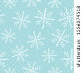 this is a winter seamless... | Shutterstock .eps vector #1236374518