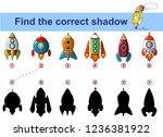 find correct shadow. kids...   Shutterstock .eps vector #1236381922