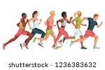 running marathon  people run ... | Shutterstock .eps vector #1236383632