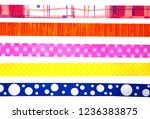 colorful ribbons for gifts | Shutterstock . vector #1236383875
