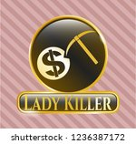gold badge or emblem with...   Shutterstock .eps vector #1236387172