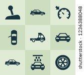car icons set with car  sedan ... | Shutterstock .eps vector #1236388048