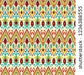 ikat geometric folklore pattern.... | Shutterstock .eps vector #1236388555