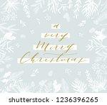 elegant stylish christmas... | Shutterstock .eps vector #1236396265