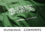 saudi arabia flag rumpled close ... | Shutterstock . vector #1236404092