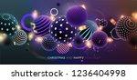merry christmas trendy cover... | Shutterstock .eps vector #1236404998