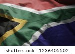 south africa flag rumpled close ... | Shutterstock . vector #1236405502