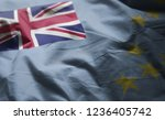 tuvalu flag rumpled close up  | Shutterstock . vector #1236405742