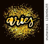 aries lettering calligraphy... | Shutterstock .eps vector #1236406255
