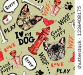 Pets Doodle Seamless Pattern....