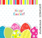 template egg greeting card | Shutterstock . vector #123641635