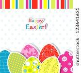 template egg greeting card | Shutterstock . vector #123641635