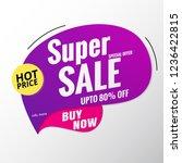 super sale banner template...   Shutterstock .eps vector #1236422815