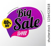 big sale banner template up to... | Shutterstock .eps vector #1236422818