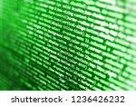 programming code on computer... | Shutterstock . vector #1236426232