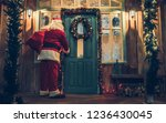 santa claus is bringing gifts... | Shutterstock . vector #1236430045