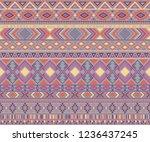 navajo american indian pattern... | Shutterstock .eps vector #1236437245
